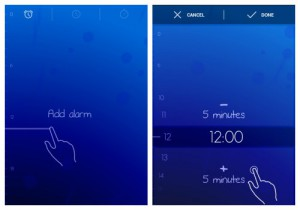 Timely guides users to each gesture and the expected result
